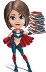 Cute Superhero Girl Cartoon Vector Character AKA Gamma Rey - Books 3