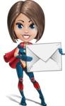 Cute Superhero Girl Cartoon Vector Character AKA Gamma Rey - Letter 1