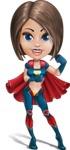 Cute Superhero Girl Cartoon Vector Character AKA Gamma Rey - Super Strong