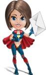 Cute Superhero Girl Cartoon Vector Character AKA Gamma Rey - Letter 2