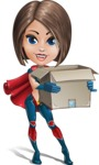 Cute Superhero Girl Cartoon Vector Character AKA Gamma Rey - Delivery 2