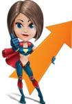 Cute Superhero Girl Cartoon Vector Character AKA Gamma Rey - Arrow 1