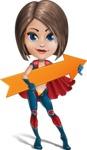 Cute Superhero Girl Cartoon Vector Character AKA Gamma Rey - Arrow 2