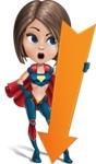 Cute Superhero Girl Cartoon Vector Character AKA Gamma Rey - Arrow 3