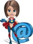 Cute Superhero Girl Cartoon Vector Character AKA Gamma Rey - Email