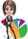Cute Superhero Girl Cartoon Vector Character AKA Gamma Rey - Chart