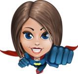 Cute Superhero Girl Cartoon Vector Character AKA Gamma Rey - Fly 1