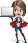 Cute Superhero Girl Cartoon Vector Character AKA Gamma Rey - Notebook 1