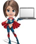 Cute Superhero Girl Cartoon Vector Character AKA Gamma Rey - Notebook 2