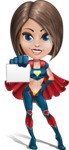 Cute Superhero Girl Cartoon Vector Character AKA Gamma Rey - Presentation 1