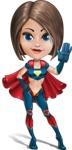 Cute Superhero Girl Cartoon Vector Character AKA Gamma Rey - Hello