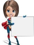 Cute Superhero Girl Cartoon Vector Character AKA Gamma Rey - Presentation 3