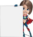 Cute Superhero Girl Cartoon Vector Character AKA Gamma Rey - Presentation 5