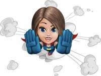 Cute Superhero Girl Cartoon Vector Character AKA Gamma Rey - Shape 2