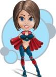 Cute Superhero Girl Cartoon Vector Character AKA Gamma Rey - Shape 6