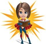 Cute Superhero Girl Cartoon Vector Character AKA Gamma Rey - Shape 7