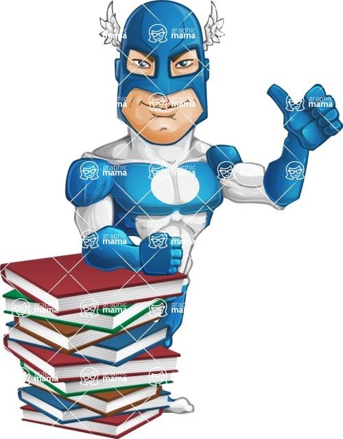 Man in Superhero Costume Cartoon Vector Character AKA Sergeant Eagle - Books