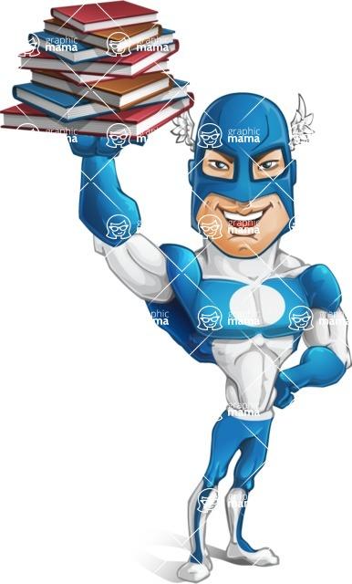 Man in Superhero Costume Cartoon Vector Character AKA Sergeant Eagle - Books3