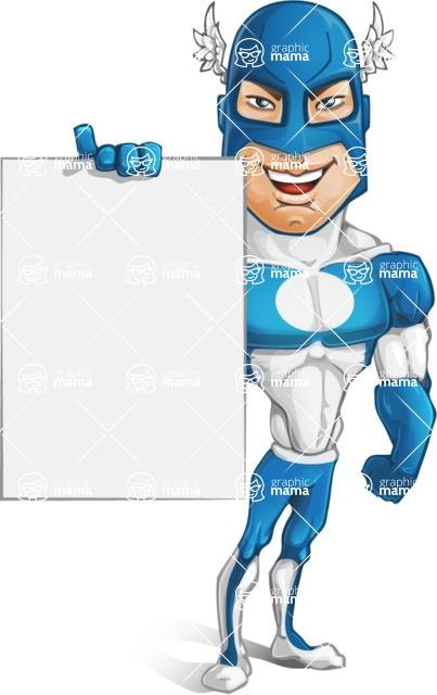 Man in Superhero Costume Cartoon Vector Character AKA Sergeant Eagle - Presentation2
