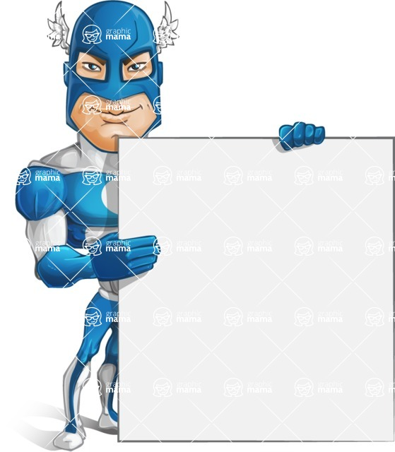 Man in Superhero Costume Cartoon Vector Character AKA Sergeant Eagle - Presentation4