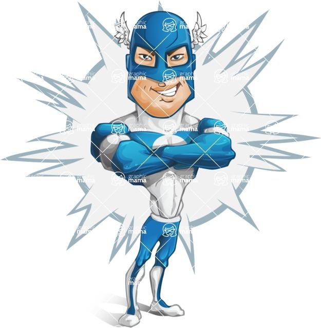 Man in Superhero Costume Cartoon Vector Character AKA Sergeant Eagle - Shape4