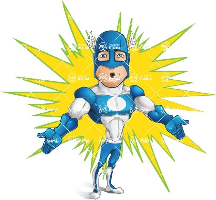 Man in Superhero Costume Cartoon Vector Character AKA Sergeant Eagle - Shape9