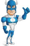 Man in Superhero Costume Cartoon Vector Character AKA Sergeant Eagle - Normal