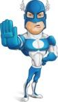 Man in Superhero Costume Cartoon Vector Character AKA Sergeant Eagle - Stop2
