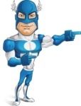 Man in Superhero Costume Cartoon Vector Character AKA Sergeant Eagle - Point2