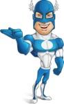 Man in Superhero Costume Cartoon Vector Character AKA Sergeant Eagle - Show