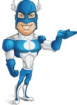 Man in Superhero Costume Cartoon Vector Character AKA Sergeant Eagle - Show2