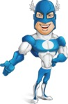 Man in Superhero Costume Cartoon Vector Character AKA Sergeant Eagle - Show3