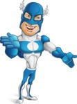 Man in Superhero Costume Cartoon Vector Character AKA Sergeant Eagle - Show4