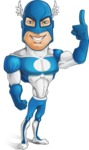 Man in Superhero Costume Cartoon Vector Character AKA Sergeant Eagle - Attention