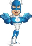Man in Superhero Costume Cartoon Vector Character AKA Sergeant Eagle - Show6