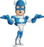 Man in Superhero Costume Cartoon Vector Character AKA Sergeant Eagle - Lost2