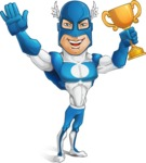 Man in Superhero Costume Cartoon Vector Character AKA Sergeant Eagle - Winner
