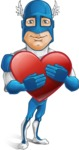 Man in Superhero Costume Cartoon Vector Character AKA Sergeant Eagle - Love