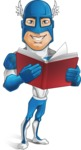 Man in Superhero Costume Cartoon Vector Character AKA Sergeant Eagle - Book