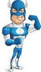 Man in Superhero Costume Cartoon Vector Character AKA Sergeant Eagle - Super Strong