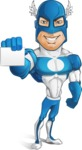 Man in Superhero Costume Cartoon Vector Character AKA Sergeant Eagle - Presentation1