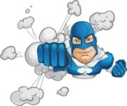 Man in Superhero Costume Cartoon Vector Character AKA Sergeant Eagle - Shape2