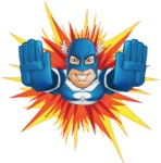 Man in Superhero Costume Cartoon Vector Character AKA Sergeant Eagle - Shape3