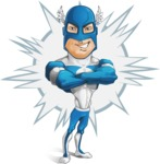 Man in Superhero Costume Cartoon Vector Character AKA Sergeant Eagle - Shape4