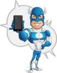 Man in Superhero Costume Cartoon Vector Character AKA Sergeant Eagle - Shape5