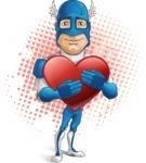 Man in Superhero Costume Cartoon Vector Character AKA Sergeant Eagle - Shape8