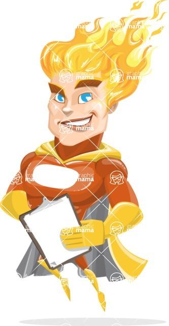 Fire Superhero Cartoon Vector Character AKA Jason Meteoro - Notepad4