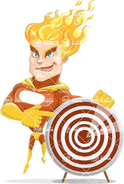 Fire Superhero Cartoon Vector Character AKA Jason Meteoro - Target