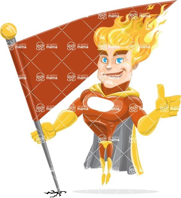Fire Superhero Cartoon Vector Character AKA Jason Meteoro - Checkpoint