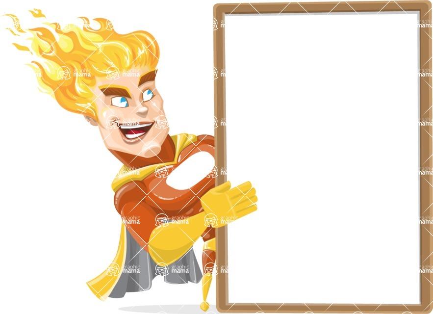 Fire Superhero Cartoon Vector Character AKA Jason Meteoro - Presentation4